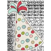 Birthday Wishes- Polka Dot Party Hat Sticker