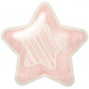 Birthday Wishes- Pink Puffy Balloon Star