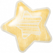 Birthday Wishes- Yellow Puffy Balloon Star