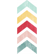 Birthday Wishes- Colorful Chevron Sticker