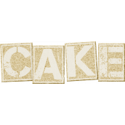 Birthday Wishes- Cork Board Word Art- Cake