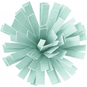 Birthday Wishes- Light Blue Frilled Paper Flower