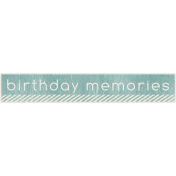 Birthday Memories- Label- Birthday Memories- Blue