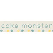 Birthday Wishes- Label- Blue Cake Monster