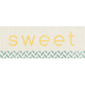 Birthday Wishes- Label- Sweet- Blue & Yellow
