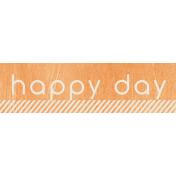Birthday Wishes- Orange Label- Happy Day