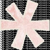 Birthday Wishes- Fun Pink Flower Sticker