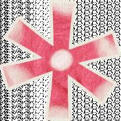 Birthday Wishes- Fun Red Flower Sticker