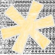 Birthday Wishes- Fun Yellow Flower Sticker