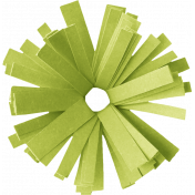Birthday Wishes- Green Frilled Paper Flower