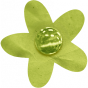 Birthday Wishes- Green Paper Flower