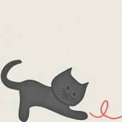 Furry Friends - Kitty - March 2015 Blog Train - 3x3 Cards - Black Cat
