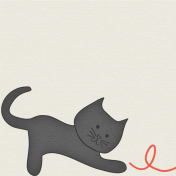 Furry Friends- Kitty- March 2015 Blog Train- 3x3 Cards- Black Cat