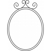 Kitty- Doodle Frames- Oval Frame 02
