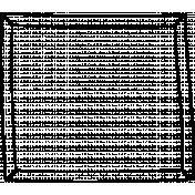 Kitty- Doodle Frame- Square Frame