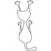 Kitty- Illustrations 02- Hanging Kitty