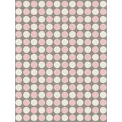 Kitty- Journal Card- Pink Polka Dots- 3 x 4
