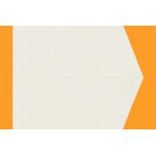 Kitty- Journal Card- Orange & White- 3 x 4