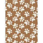 Kitty- Journal Card- Brown Pawprint- 3 x 4