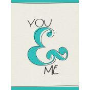 Kitty- Journal Card- You & Me- 3 x 4