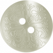 Button Mix Set 02- White Scrolled Button- 2 Holes