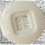Button Mix Set 02- White 4 Hole Button