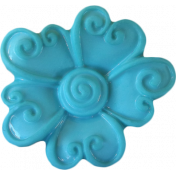 Button Mix Set 01- Button # 01- Teal Flower