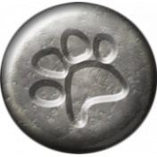 Furry Friends- Kitty- Metal Pawprint Brad Template