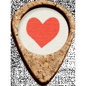 Furry Friends- Kitty- Corkboard Heart Pointer