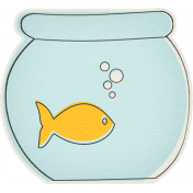 Furry Friends- Kitty- Fish Bowl Sticker