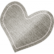 Furry Friends- Kitty- Gray Heart Sticker