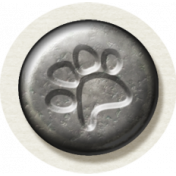 Furry Friends- Kitty- Metal Paw Print Brad