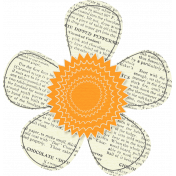 Furry Friends - Kitty - Orange & White Paper Flower