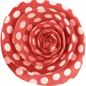 Furry Friends- Kitty- Polka Dot Paper Rose