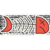 Furry Friends- Kitty- Red Fish Bone Sticker