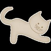 Furry Friends- Kitty- Sweet Tan Kitty Sticker