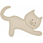 Furry Friends- Kitty- Sweet Tan Kitty Sticker