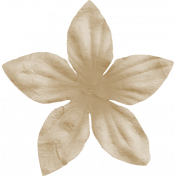 Furry Friends- Kitty- Tan Craft Flower