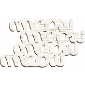 Furry Friends- Kitty- White Wood Meow Word Art