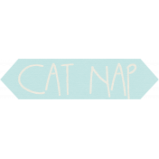 Furry Friends- Kitty- Cat Nap Word Art