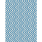 Shine- Journal Card- Blue & White Chevrons