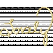 Shine- Gold Words- Lovely