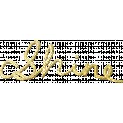 Shine- Gold Words- Shine