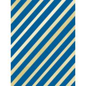 Shine- Journal Cards- Blue & Gold Stripes
