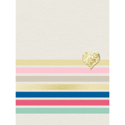 Shine- Journal Cards- Colorful Stripes With Heart