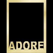 Shine- Journal Cards- Adore Frame
