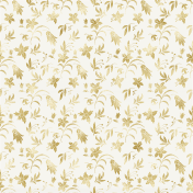 Shine- Gold Floral Vellum Paper