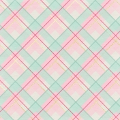 Shine- Colorful Diagonal Plaid Paper