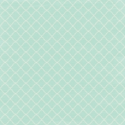 Shine- Light Teal Quatrafoil Paper