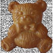 Button Mix Set # 04- Button 02- Brown Bear
